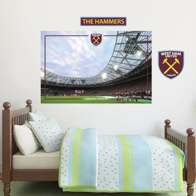 West Ham United Football Club - London Stadium Wall Mural + Hammers Wall Sticker Set
