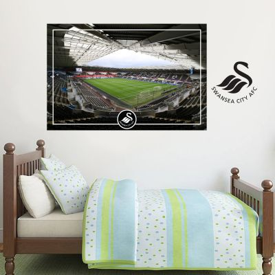 Swansea City Football Club - Liberty Stadium Wall Mural + Swans Crest Wall Sticker