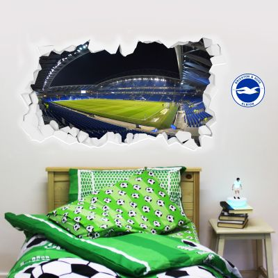 Brighton & Hove Albion Football Club - Amex Stadium Smashed Mural + Brighton & Hove Albion Crest Set