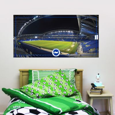 Brighton & Hove Albion Football Club - Amex Stadium Mural + Brighton & Hove Albion Crest Set