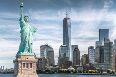 Statue of Liberty & NYC Wall Mural