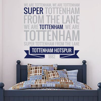 Tottenham Hotspur Football Club - 'Super Tottenham' Spurs Song Wall Sticker Vinyl