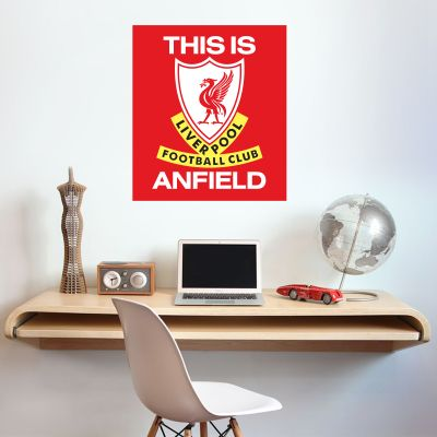 Liverpool Football Club 'This Is Anfield' Wall Sticker + Official Wall Sticker Badge Set