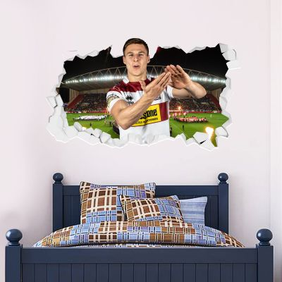Wigan Warriors Rugby Club Tom Davies Player Smashed Wall Sticker