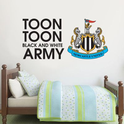 Newcastle United Football Club Toon Army Song Wall Sticker Vinyl