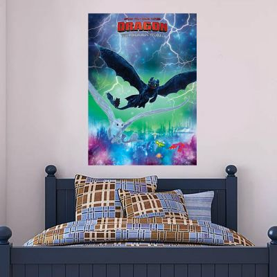 How To Train Your Dragon - Toothless & Light Fury Wall Sticker Poster