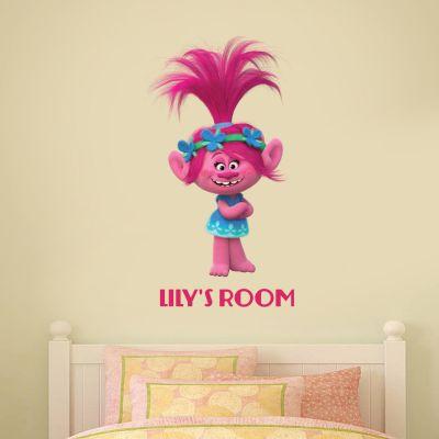 Trolls - Poppy Personalised Wall Sticker