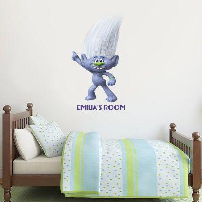 Trolls - Guy Diamond Personalised Wall Sticker