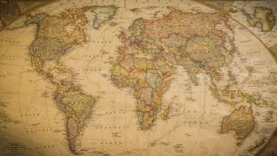 Vintage World Map 3 Wall Mural