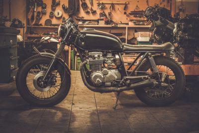 Vintage Motorbike Wall Mural