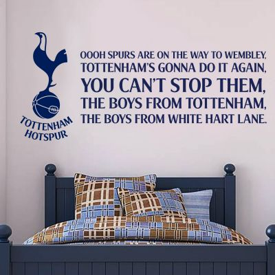 Tottenham Hotspur Football Club 'Spurs Are On Their Way To Wembley' Song Wall Sticker Vinyl