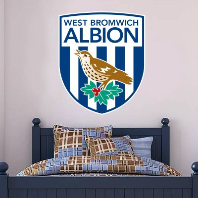 West Bromwich Albion Football Club Crest Wall Sticker Vinyl
