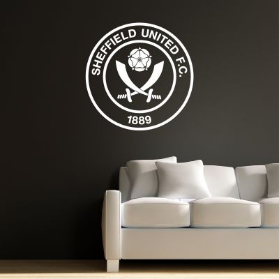 Sheffield United Crest 'One Colour' Wall Sticker + Official Wall Sticker Badge Set