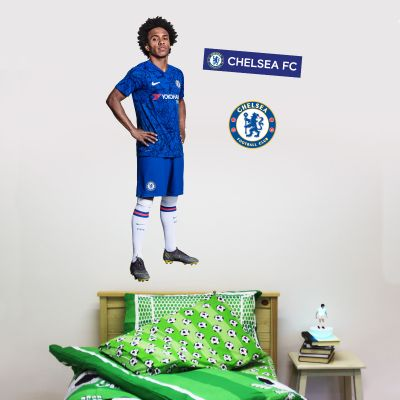 Chelsea FC - Willian Player Decal + CFC Wall Sticker Set