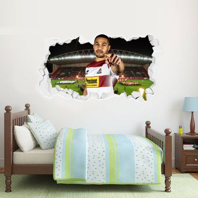 Wigan Warriors Rugby Club Willie Isa Player Smashed Wall Sticker