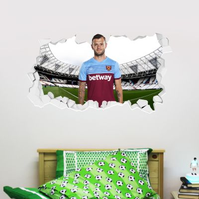 West Ham United Football Club - Jack Wilshere Smashed Wall Mural + Hammers Wall Sticker Set