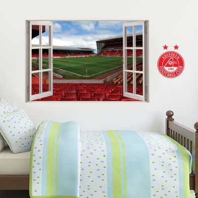 Aberdeen Football Club - Pittodrie Stadium Stand 1 Window View Wall Sticker