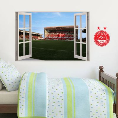 Aberdeen Football Club - Pittodrie Stadium Stand 2 Window View Wall Sticker