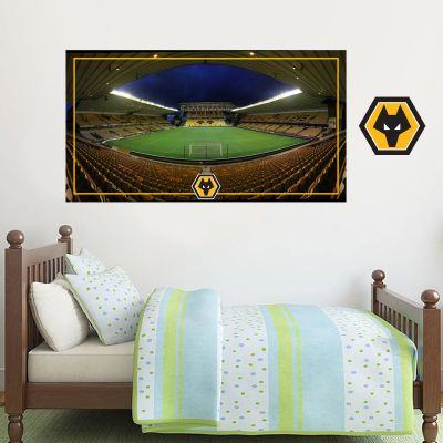 Wolverhampton Wanderers F.C. - Molineux Stadium Wall Art + Wolves Wall Sticker Set