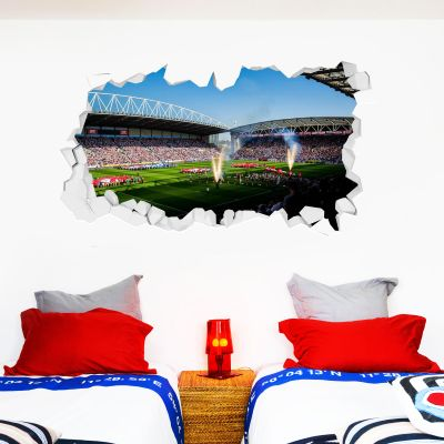 Wigan Warriors Rugby Club Day Time Stadium Smashed Wall Sticker